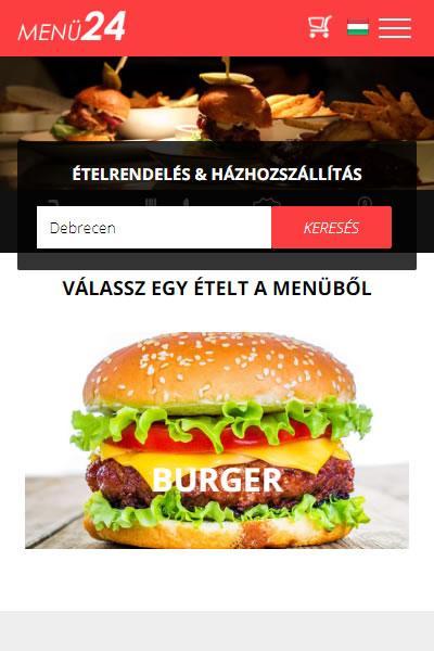 Menü24.hu - Ételrendelés & Házhozszállítás Debrecenben | TGweb.hu