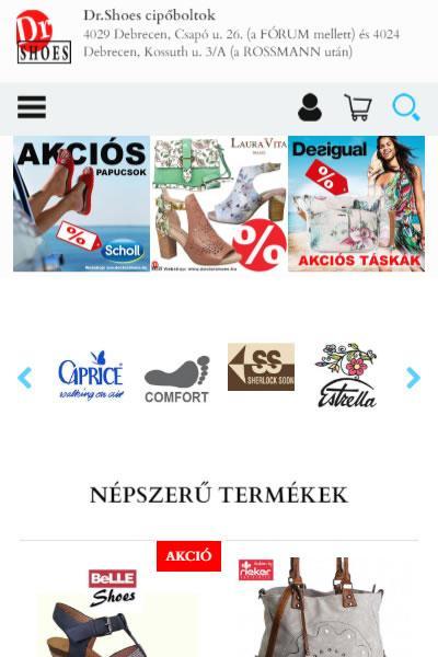 DoctorShoes - cipő, szandál, csizma áruház | TGweb.hu